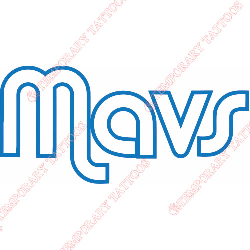 Dallas Mavericks Customize Temporary Tattoos Stickers NO.962