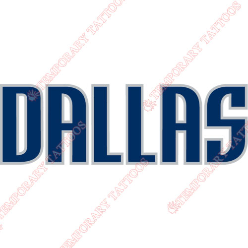 Dallas Mavericks Customize Temporary Tattoos Stickers NO.963