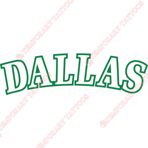 Dallas Mavericks Customize Temporary Tattoos Stickers NO.965