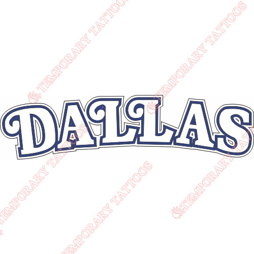 Dallas Mavericks Customize Temporary Tattoos Stickers NO.967