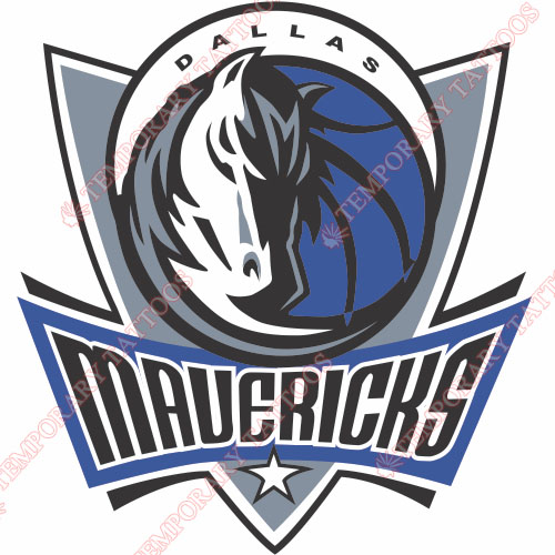 Dallas Mavericks Customize Temporary Tattoos Stickers NO.969