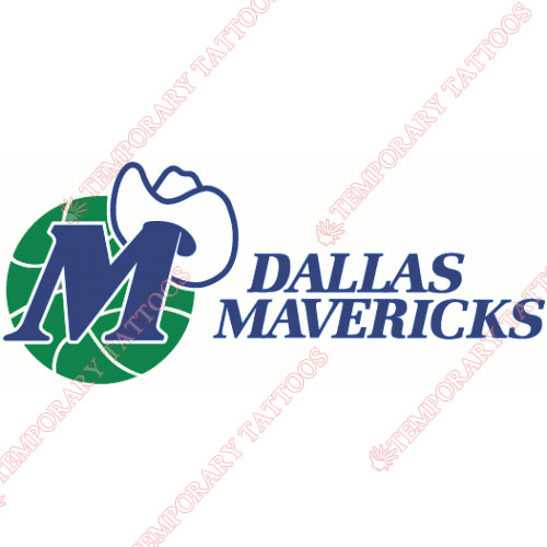 Dallas Mavericks Customize Temporary Tattoos Stickers NO.970