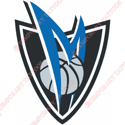 Dallas Mavericks Customize Temporary Tattoos Stickers NO.971