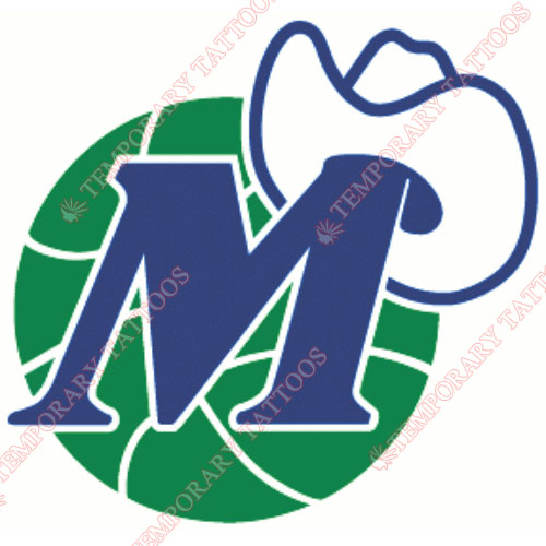 Dallas Mavericks Customize Temporary Tattoos Stickers NO.974