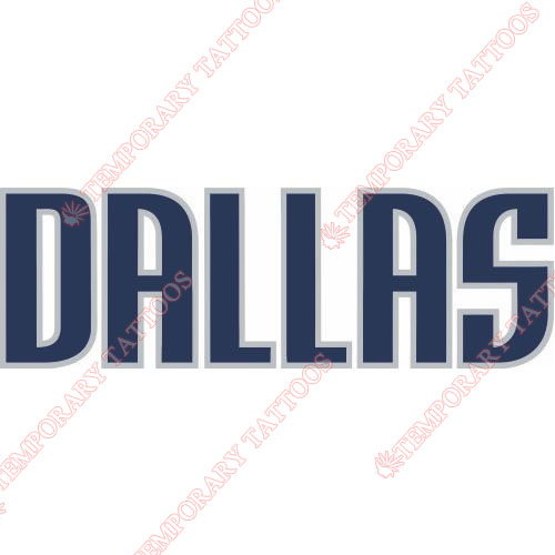 Dallas Mavericks Customize Temporary Tattoos Stickers NO.975