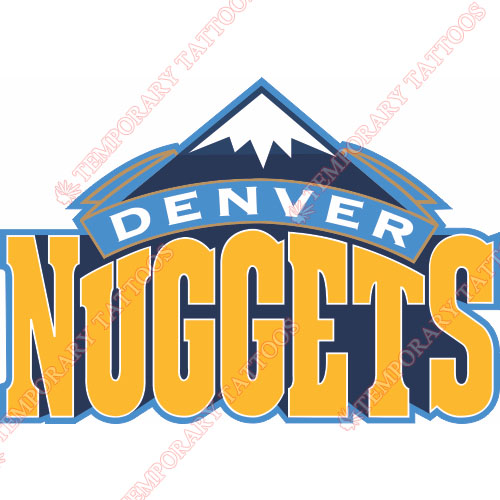 Denver Nuggets Customize Temporary Tattoos Stickers NO.977