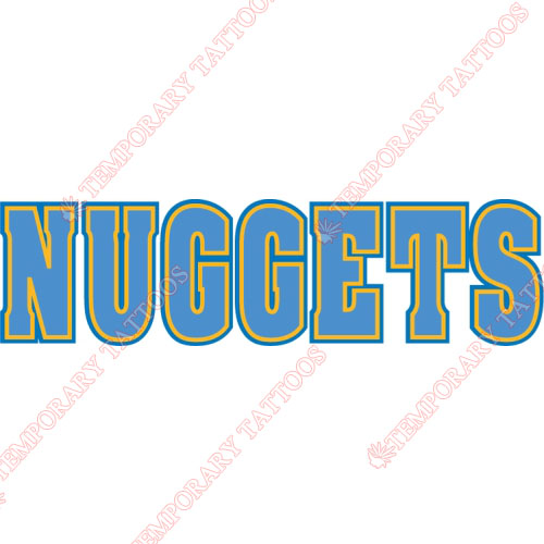 Denver Nuggets Customize Temporary Tattoos Stickers NO.979