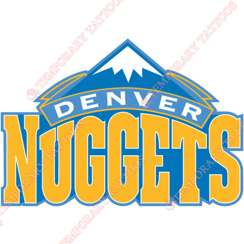 Denver Nuggets Customize Temporary Tattoos Stickers NO.980