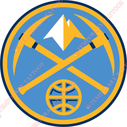 Denver Nuggets Customize Temporary Tattoos Stickers NO.984