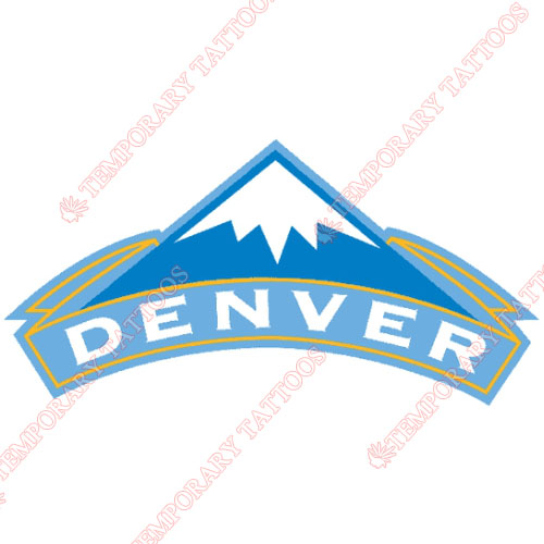 Denver Nuggets Customize Temporary Tattoos Stickers NO.985