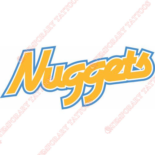 Denver Nuggets Customize Temporary Tattoos Stickers NO.989