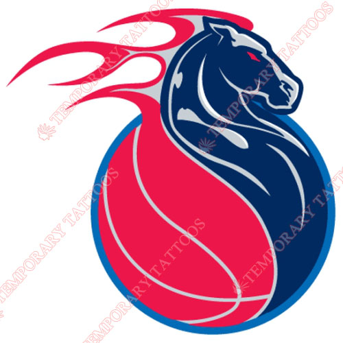 Detroit Pistons Customize Temporary Tattoos Stickers NO.1002