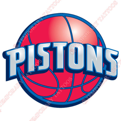 Detroit Pistons Customize Temporary Tattoos Stickers NO.1003