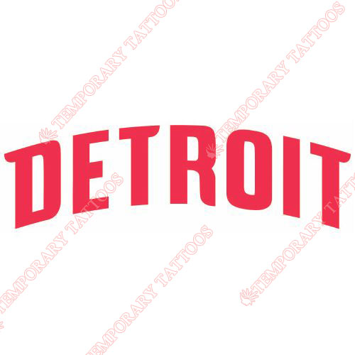 Detroit Pistons Customize Temporary Tattoos Stickers NO.1006