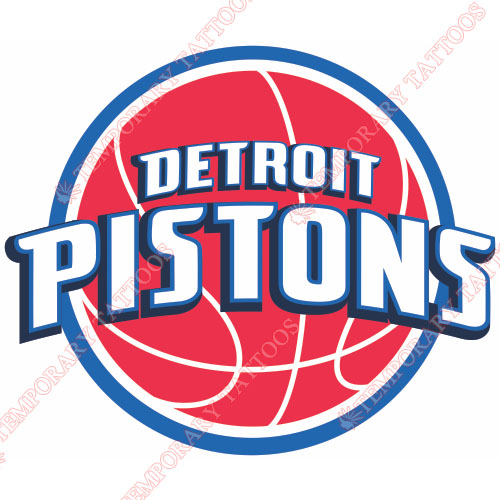 Detroit Pistons Customize Temporary Tattoos Stickers NO.990