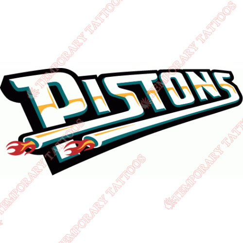 Detroit Pistons Customize Temporary Tattoos Stickers NO.995