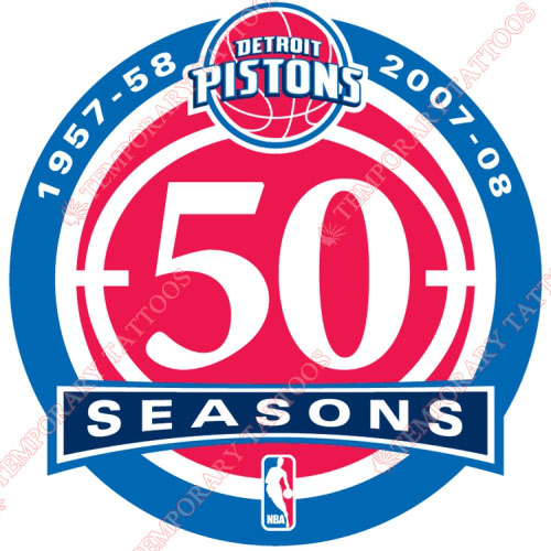 Detroit Pistons Customize Temporary Tattoos Stickers NO.998