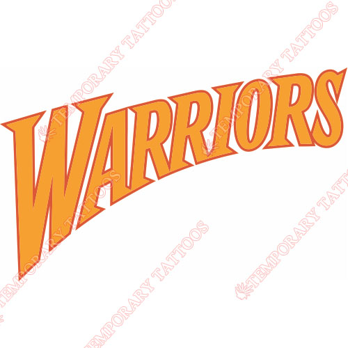 Golden State Warriors Customize Temporary Tattoos Stickers NO.1008