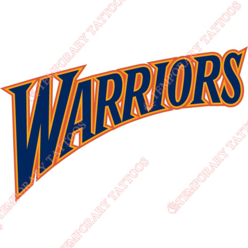 Golden State Warriors Customize Temporary Tattoos Stickers NO.1012