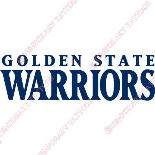 Golden State Warriors Customize Temporary Tattoos Stickers NO.1013