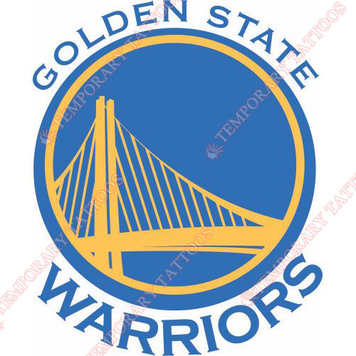 Golden State Warriors Customize Temporary Tattoos Stickers NO.1017
