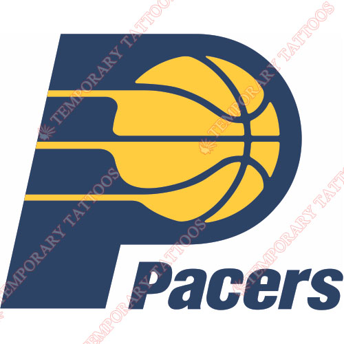 Indiana Pacers Customize Temporary Tattoos Stickers NO.1029
