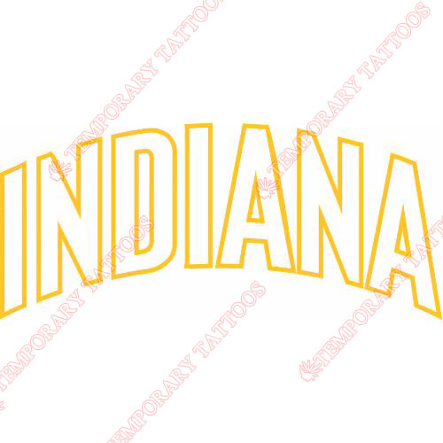 Indiana Pacers Customize Temporary Tattoos Stickers NO.1031