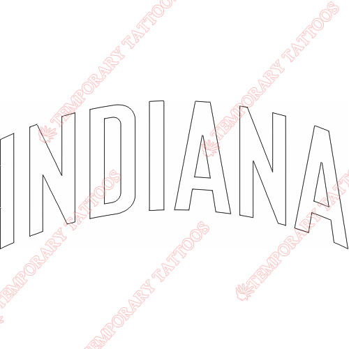 Indiana Pacers Customize Temporary Tattoos Stickers NO.1032