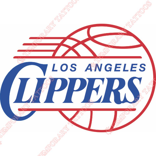 Los Angeles Clippers Customize Temporary Tattoos Stickers NO.1039