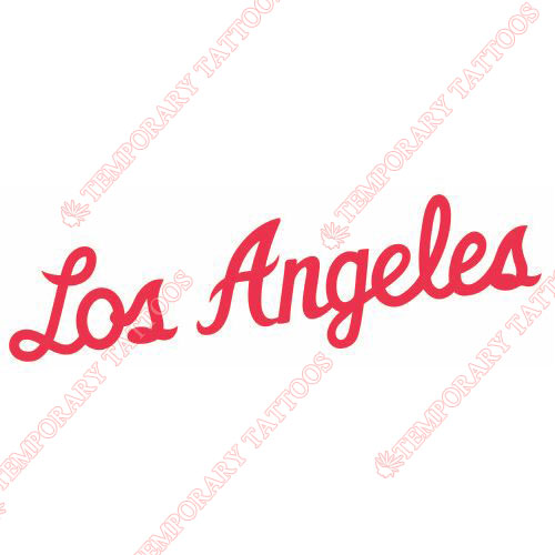 Los Angeles Clippers Customize Temporary Tattoos Stickers NO.1040