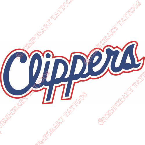 Los Angeles Clippers Customize Temporary Tattoos Stickers NO.1041