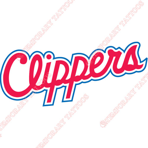 Los Angeles Clippers Customize Temporary Tattoos Stickers NO.1042