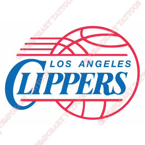 Los Angeles Clippers Customize Temporary Tattoos Stickers NO.1043