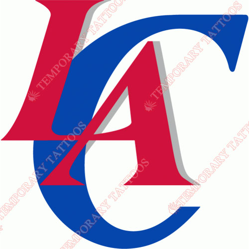 Los Angeles Clippers Customize Temporary Tattoos Stickers NO.1044