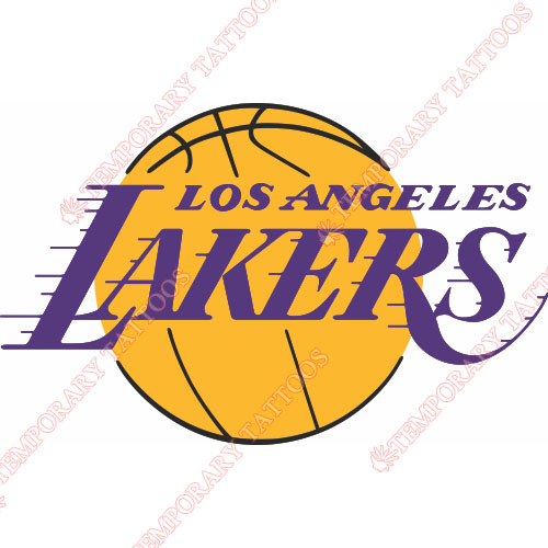 Los Angeles Lakers Customize Temporary Tattoos Stickers NO.1046