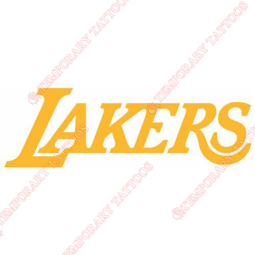 Los Angeles Lakers Customize Temporary Tattoos Stickers NO.1047