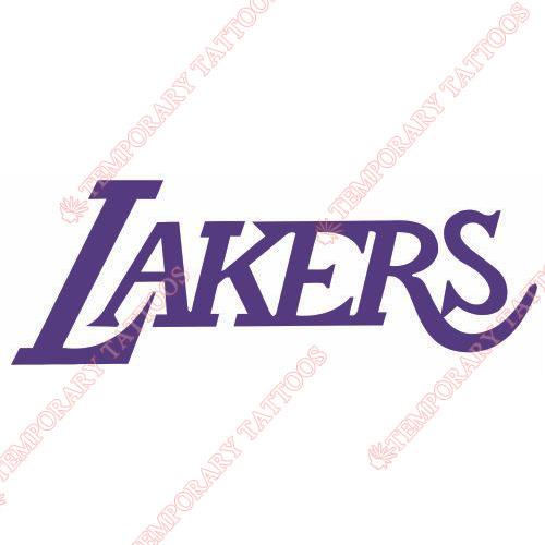 Los Angeles Lakers Customize Temporary Tattoos Stickers NO.1048