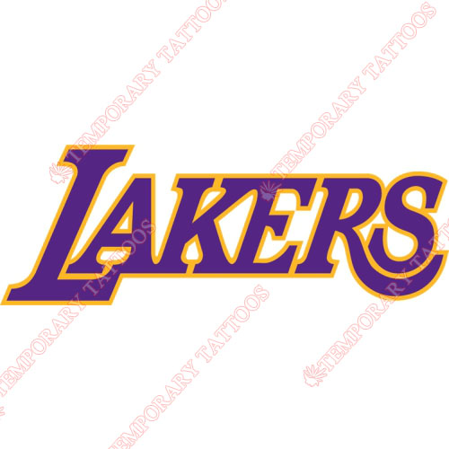 Los Angeles Lakers Customize Temporary Tattoos Stickers NO.1049