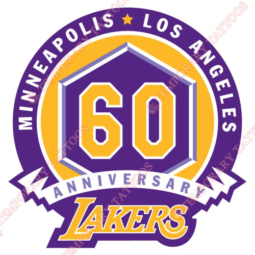 Los Angeles Lakers Customize Temporary Tattoos Stickers NO.1051