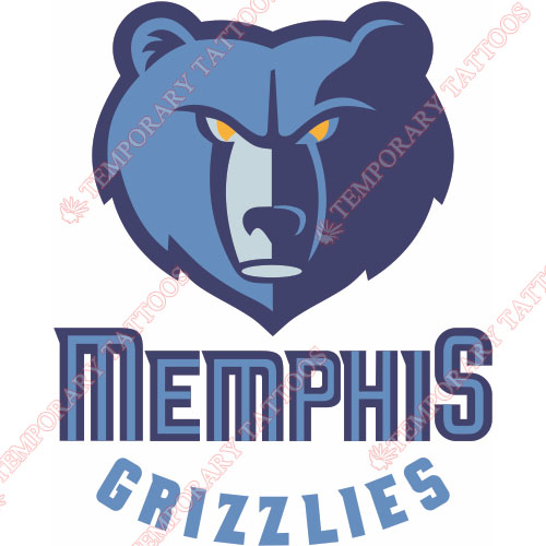 Memphis Grizzlies Customize Temporary Tattoos Stickers NO.1053