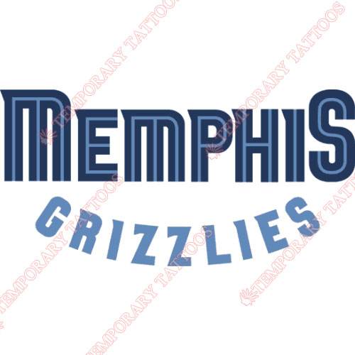 Memphis Grizzlies Customize Temporary Tattoos Stickers NO.1057