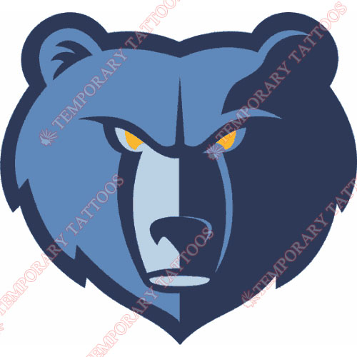 Memphis Grizzlies Customize Temporary Tattoos Stickers NO.1062