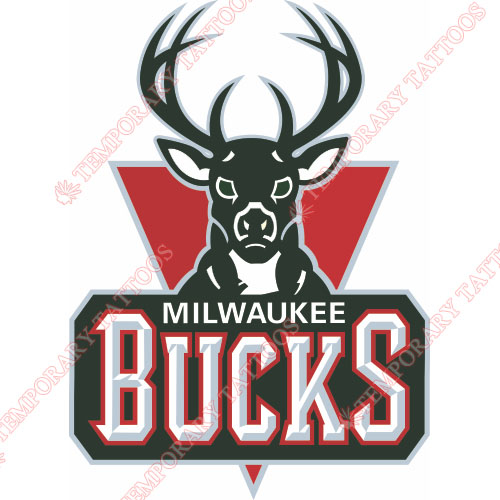 Milwaukee Bucks Customize Temporary Tattoos Stickers NO.1073