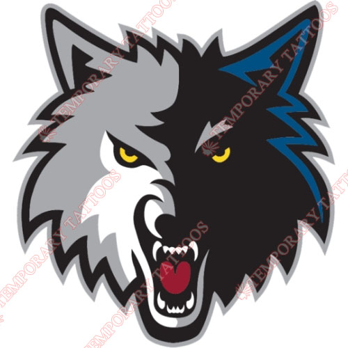 Minnesota Timberwolves Customize Temporary Tattoos Stickers NO.1093