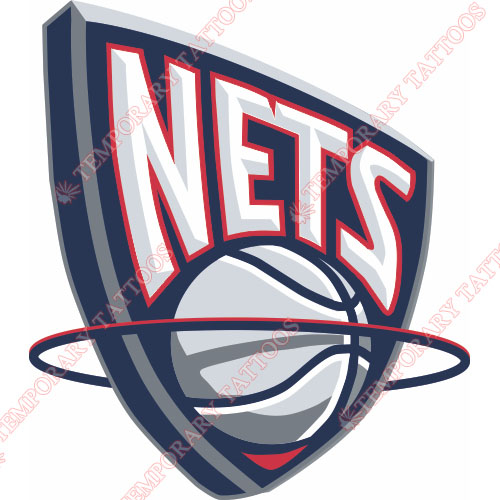 New Jersey Nets Customize Temporary Tattoos Stickers NO.1099