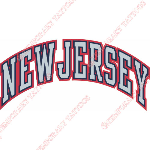 New Jersey Nets Customize Temporary Tattoos Stickers NO.1101