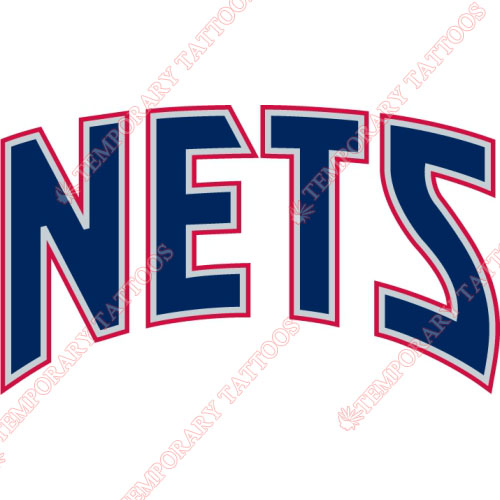 New Jersey Nets Customize Temporary Tattoos Stickers NO.1102