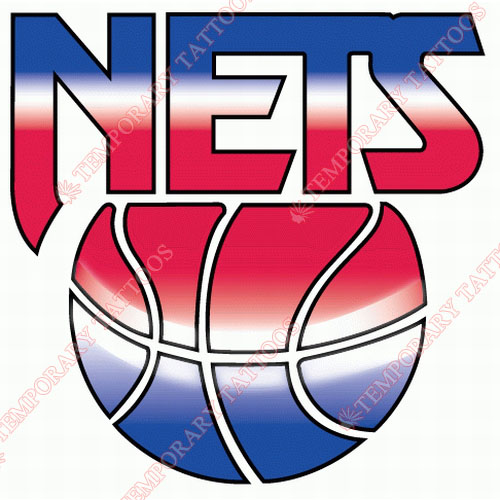New Jersey Nets Customize Temporary Tattoos Stickers NO.1103