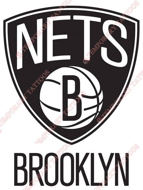 New Jersey Nets Customize Temporary Tattoos Stickers NO.1105