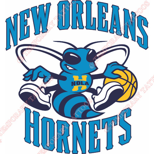 New Orleans Hornets Customize Temporary Tattoos Stickers NO.1106